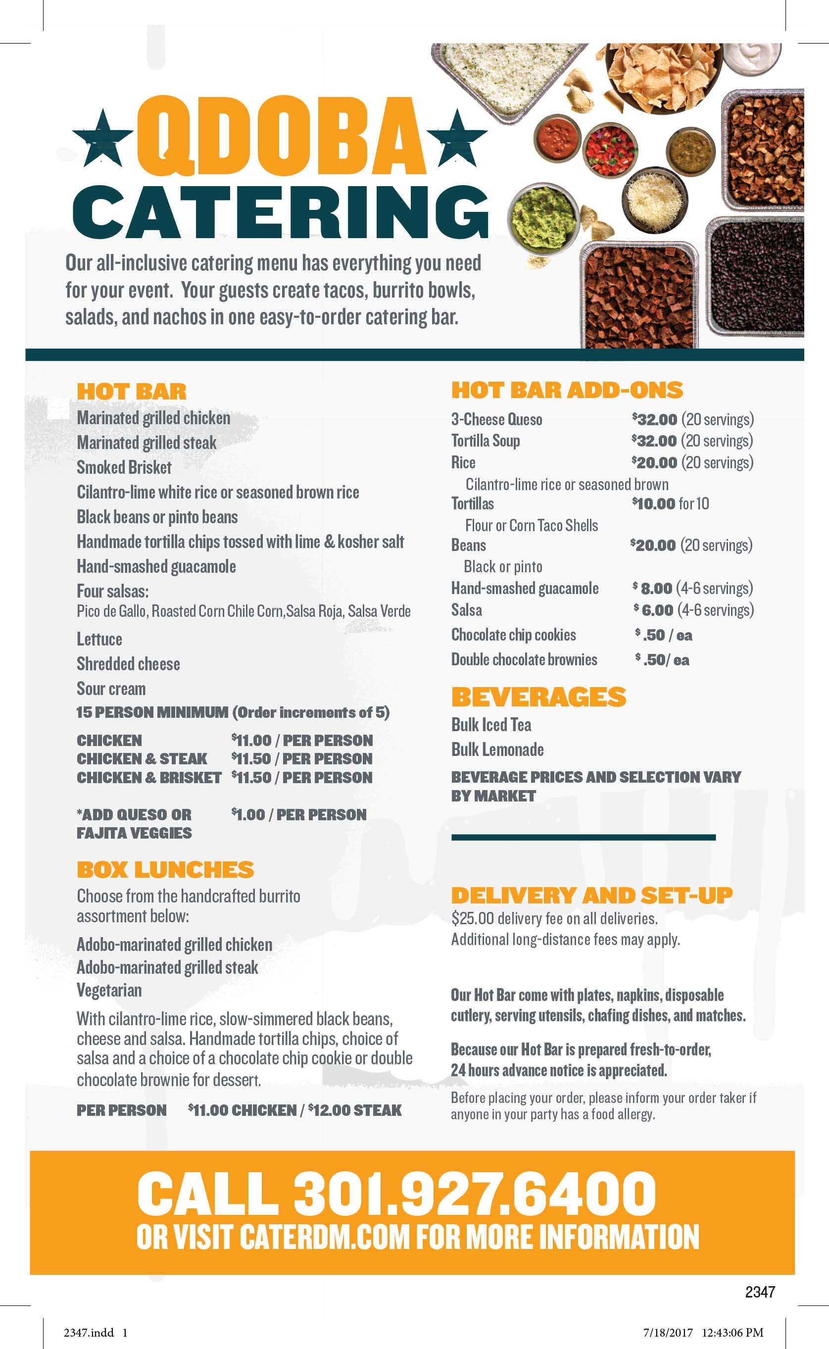 picture about Qdoba Menu Printable referred to as Buy On the internet: Qdoba Get On the web