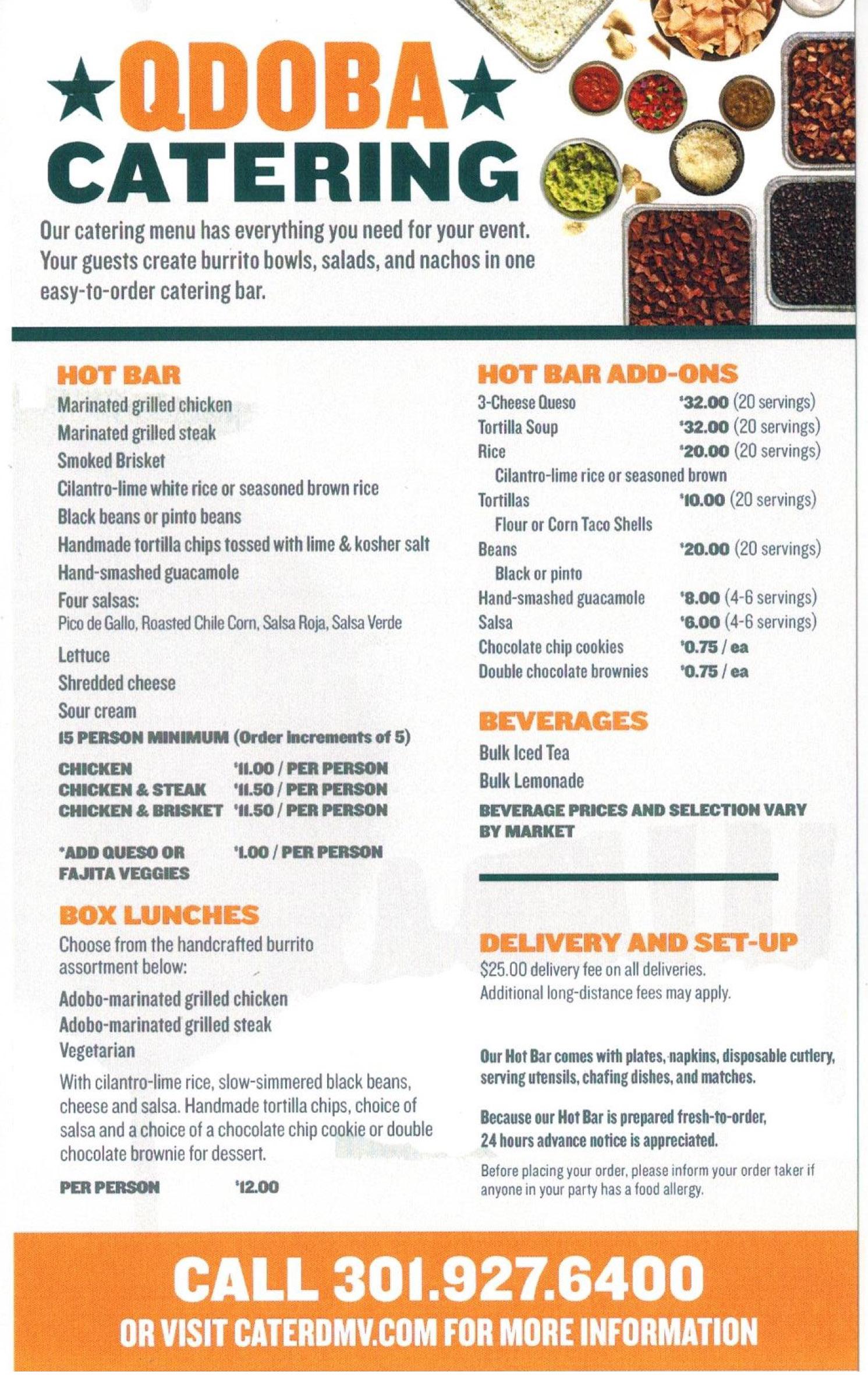 qdoba donation request CaterDMV - A Brand New Experience in Catering | Qdoba MenuCaterDMV ...